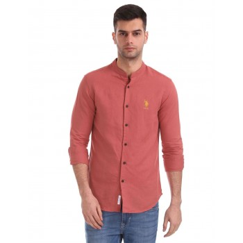 U.S. Polo Assn. Men Casual Wear Red Shirt