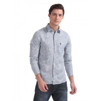 U.S. Polo Assn. Men Casual Wear Grey Shirt