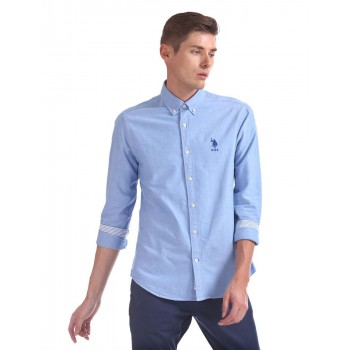 U.S. Polo Assn. Men Casual Wear Blue Shirt