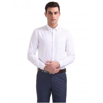 Arrow New York Men Formal Wear White Shirt