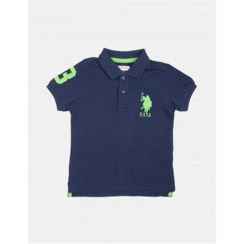 U.S. Polo Assn. Boys Solid Pique Polo Shirt