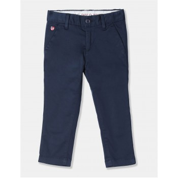U.S. Polo Assn. Boys Regular Fit Solid Trousers