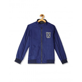 U.S. Polo Assn. Charcoal And Blue Boys Reversible Jacket