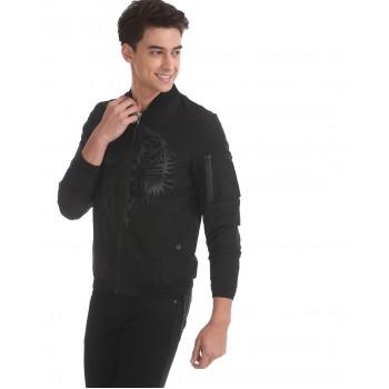 Ed Hardy Men Casual Wear Black Bomber Jacket