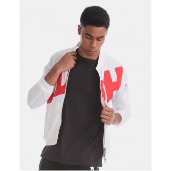 Ed Hardy Men Casual Wear White Bomber Jacket