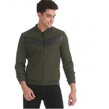 Ed Hardy Men Casual Wear Dark Green Bomber Jacket