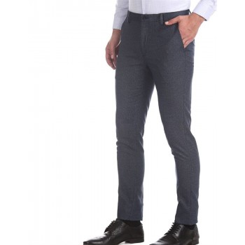 Arrow New York Men Formal Wear Blue Trouser