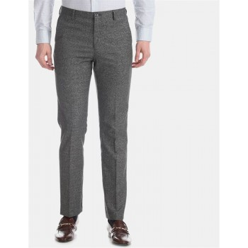 Arrow New York Men Formal Wear Grey Trouser