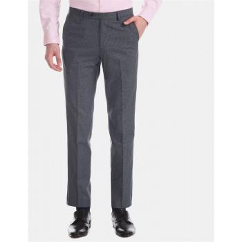 Arrow New York Men Formal Wear Blue Trouser