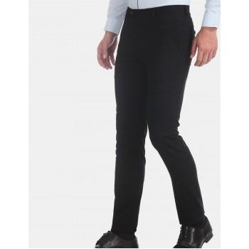 Arrow New York Men Formal Wear Black Trouser