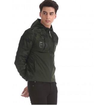 Ed Hardy Men Dark Green Casual Jacket