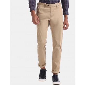 Arrow Sports Men Casual Wear Beige Trouser