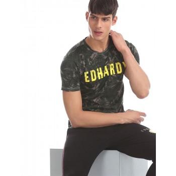 Ed Hardy Men Casual Wear Green T-Shirt