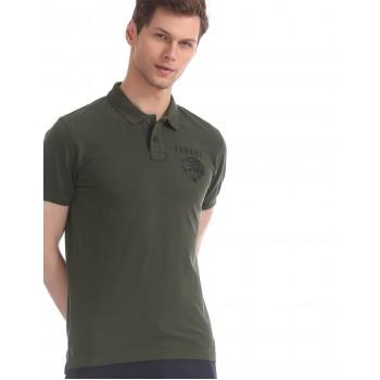 Ed Hardy Men Casual Wear Dark Green T-Shirt