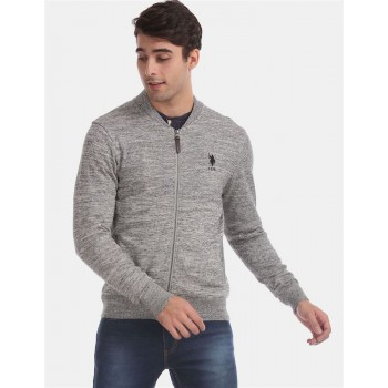 U.S. Polo Assn. Men Casual Wear Grey Casual Jacket