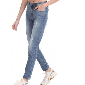 U.S. Polo Assn. Blue High Rise Distressed Jeans