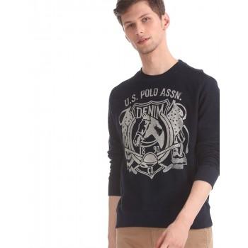 U.S. Polo Assn. Men Casual Wear Navy Blue Sweatshirt