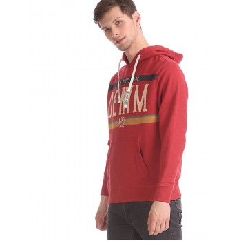 U.S. Polo Assn. Men Casual Wear Red Sweatshirt