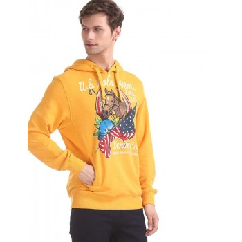 U.S. Polo Assn. Men Casual Wear Yellow Sweatshirt