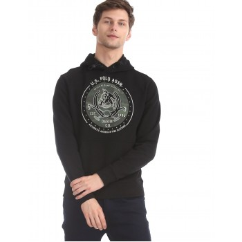 U.S. Polo Assn. Men Casual Wear Black Sweatshirt
