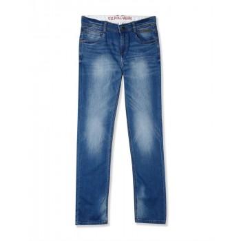U.S. Polo Assn. Blue Boys Slim Fit Stone Wash Jeans