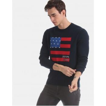 U.S. Polo Assn. Men Casual Wear Navy Blue Sweater