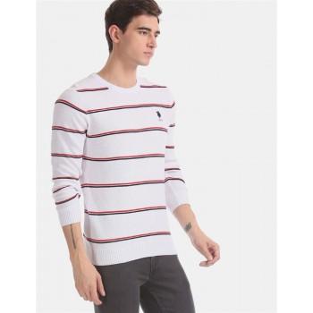 U.S. Polo Assn. Men Casual Wear White Sweater