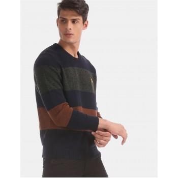 U.S. Polo Assn. Men Casual Wear Multicolor Sweater
