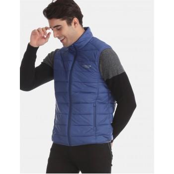 U.S. Polo Assn. Men Casual Wear Blue Puffer Jacket