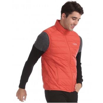 U.S. Polo Assn. Men Casual Wear Orange Puffer Jacket