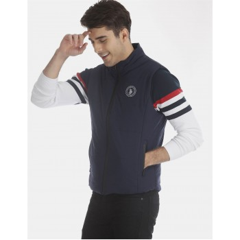 U.S. Polo Assn. Men Casual Wear Navy Blue Quilted Jacket