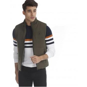 U.S. Polo Assn. Men Casual Wear Dark Green Quilted Jacket