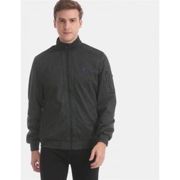 U.S. Polo Assn. Men Casual Wear Dark Grey Reversible Jacket