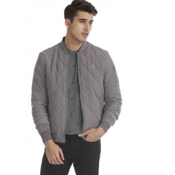 U.S. Polo Assn. Men Casual Wear Grey Bomber Jacket
