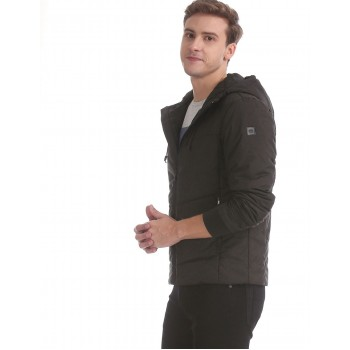 U.S. Polo Assn. Men Casual Wear Black Quilted Jacket