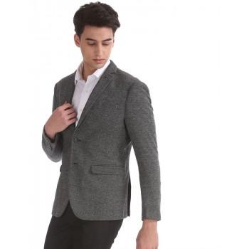 Arrow New York Men Formal Wear Black Single Breasted Blazer