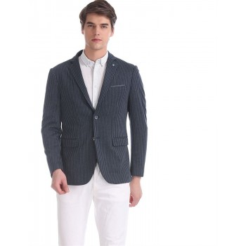 Arrow New York Men Formal Wear Blue Single Breasted Blazer