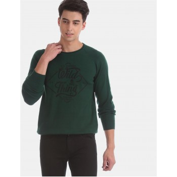 Ed Hardy Men Casual Wear Dark Green Sweater