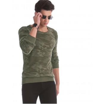 Ed Hardy Men Casual Wear Green Sweater