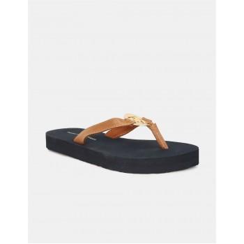 Tommy Hilfiger Women Casual Wear Brown Slippers