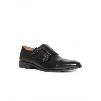 Arrow Men Formal Wear Black Slip On Monk Strap Shoes