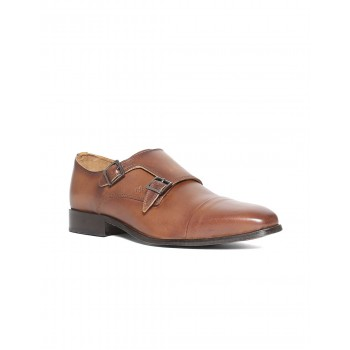 Arrow Men Formal Wear Brown Monk Strap Shoes