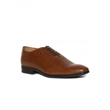 Arrow Men Formal Wear Brown Lace Up Oxford Shoes