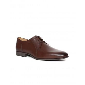 Arrow Men Formal Wear Brown Lace Up Derby Shoes