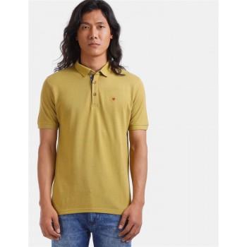 True Blue Men Casual Wear Green T-Shirt