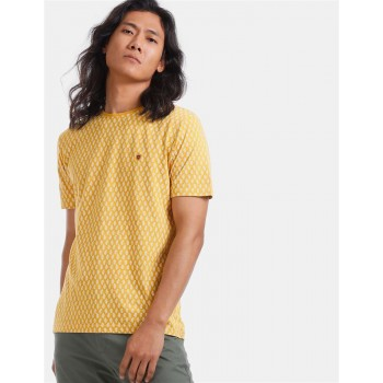 True Blue Men Casual Wear Yellow T-Shirt