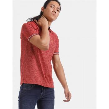 True Blue Men Casual Wear Red T-Shirt