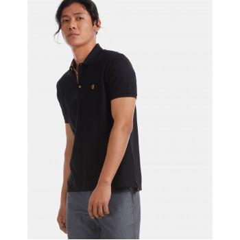 True Blue Men Casual Wear Black T-Shirt