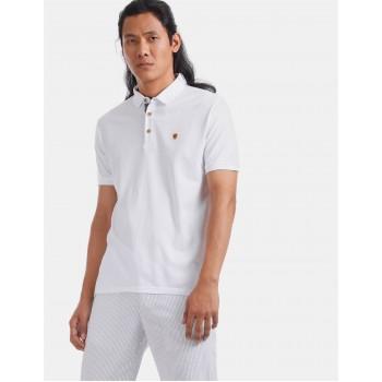 True Blue Men Casual Wear White T-Shirt