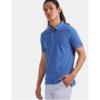 True Blue Men Casual Wear Blue T-Shirt